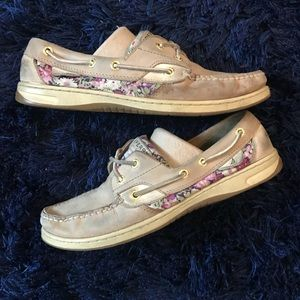 Floral Sperry Top Sider boat shoe